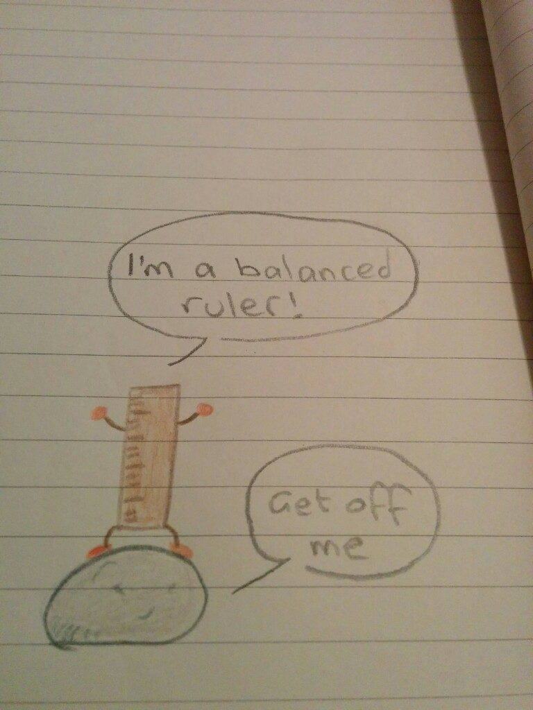 Balanced ruler