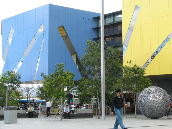 Brisbane City Library – Built from Lego Blocks and steel